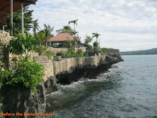 Camotes Island - San Francisco Bay Lodge cliff