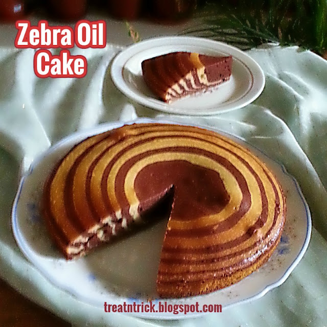 Zebra Oil Cake Recipe @ treatntrick.blogspot.com