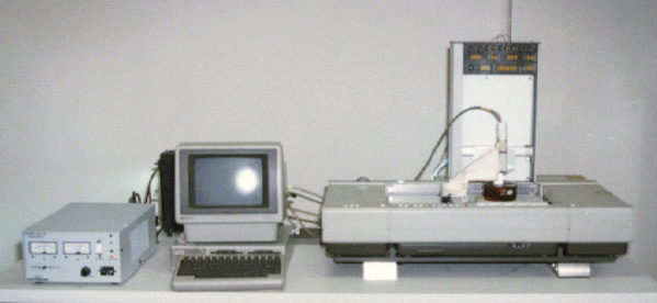 SLA-1, the first 3D printer invented by Charles Hull in 1986