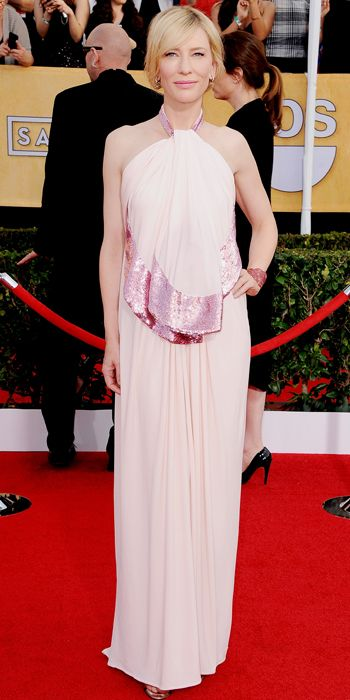 Cate Blachett in a light pink Givenchy gown at the SAG Awards 2014