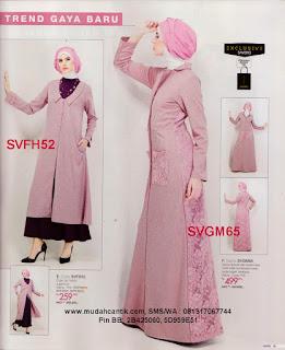 gamis modern pink