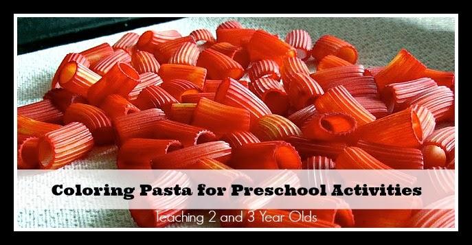 How To Color Pasta For Preschool Activities