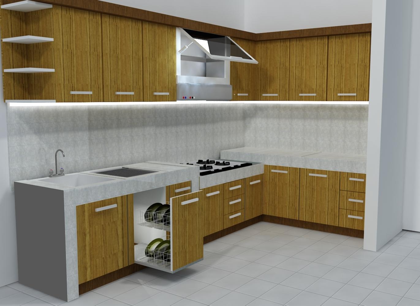 Harga  70 Model Gambar Kitchen Set Minimalis  Desainrumahnyacom