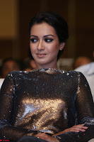 Actress Catherine Tresa in Golden Skin Tight Backless Gown at Gautam Nanda music launchi ~ Exclusive Celebrities Galleries 001.JPG