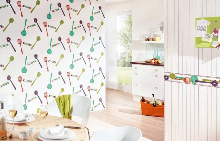 mutfak araç gereçli duvar kağıdı çeşitleri