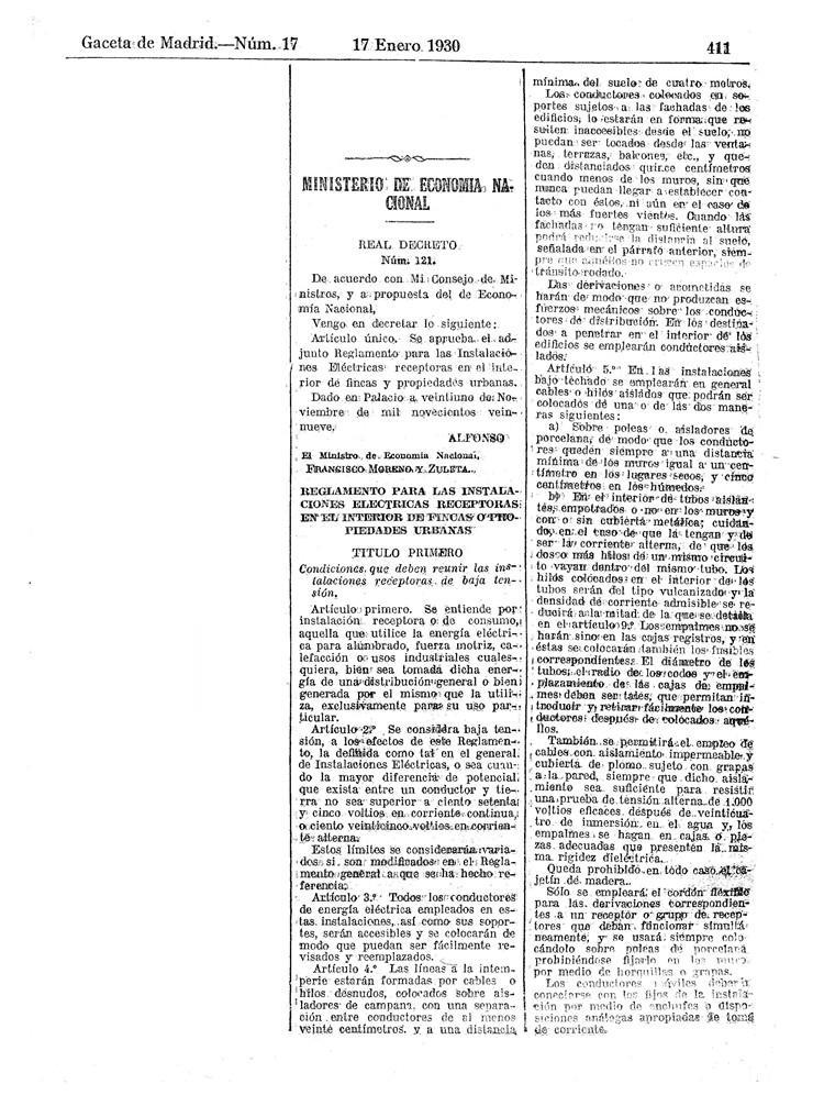 reglamento instalaciones electricas receptoras 1930 - 01