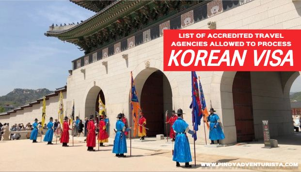 List of Accredited Travel Agencies Allowed to Process Korean Visa