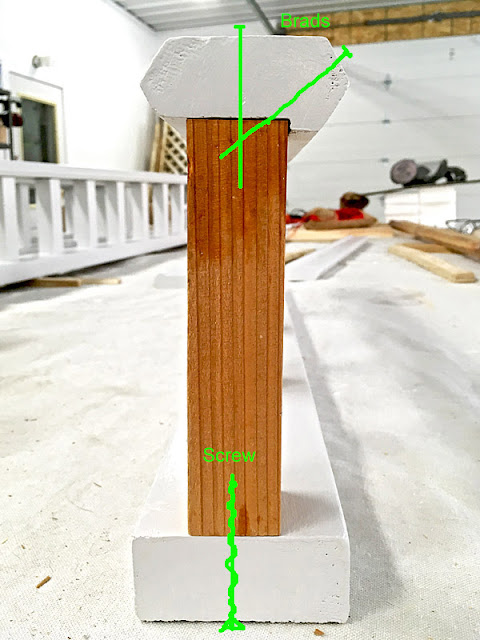 Porch Railing rot repair assembly western red cedar