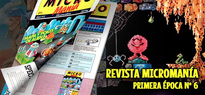 Revista Micromanía Primera época Número 6 1985