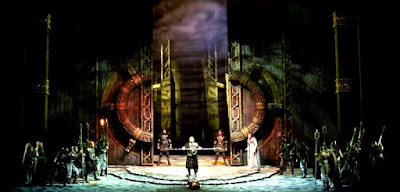 Escenografía de una ópera wagneriana.
