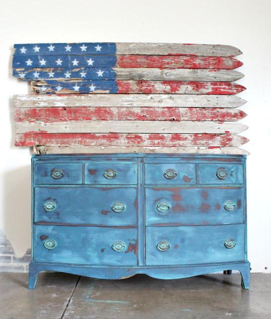 diy flag, painted flag, diy patriotic furniture