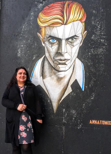 David Bowie Wall Art Graffiti Annatomix Birmingham