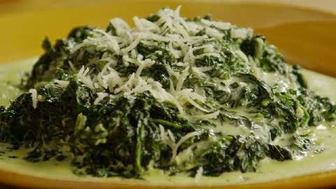 Creamed Spinach Pearl Onions Recipe