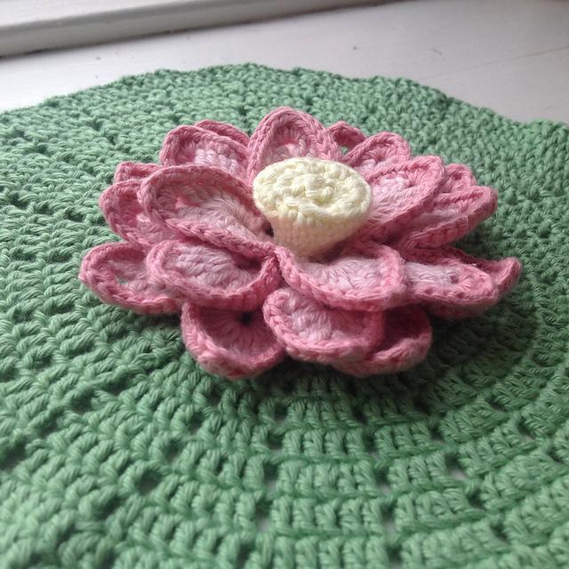 Lotus Crochet Flowers Step By Step Afghan Pdf Free