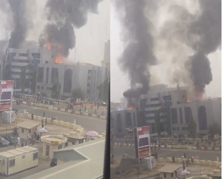 fire nnpc towers abuja