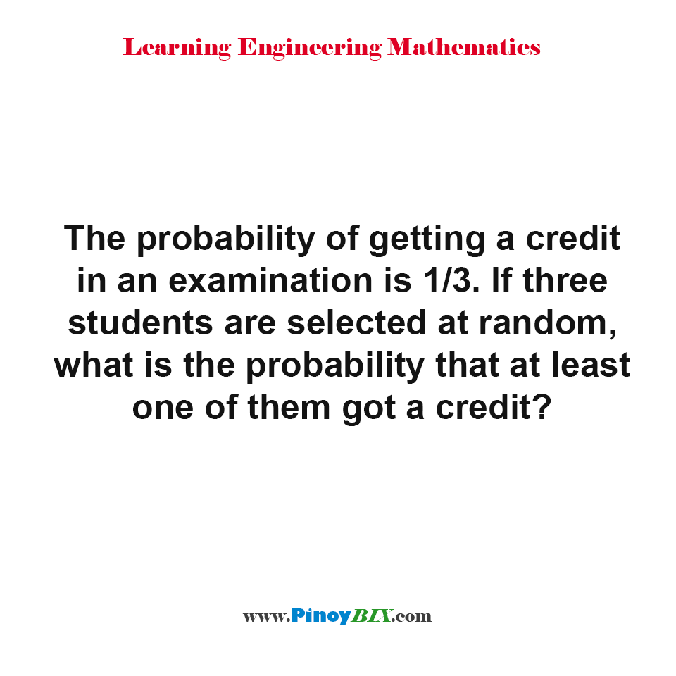 What is the probability that at least one of them got a credit?