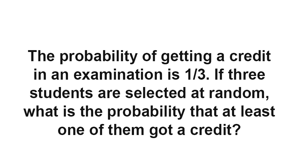 solution  what is the probability that at least one of