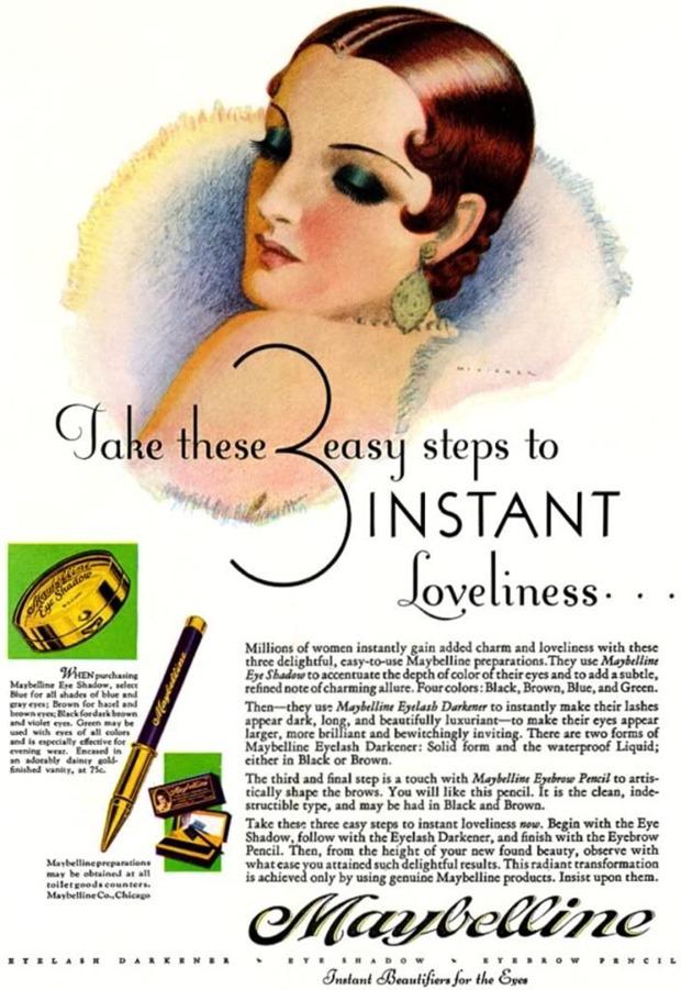 Anúncios vintage de maquiagem, anúncios vintage, publicidade vintage, vintage, vintage makeup ad, vintage ad, história da maquiagem, maquiagem no decorrer das décadas, anúncios de maquiagem dos anos 20