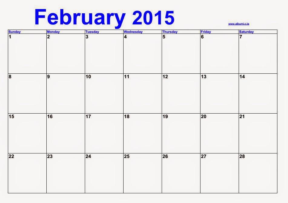 February Blank calendar 2015   calendars 2016 kalendar 2016
