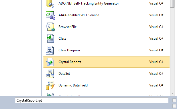 Crystal Reports Example in Asp net using Dataset or