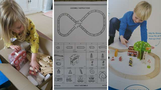 unpacking and instructions for the train kit
