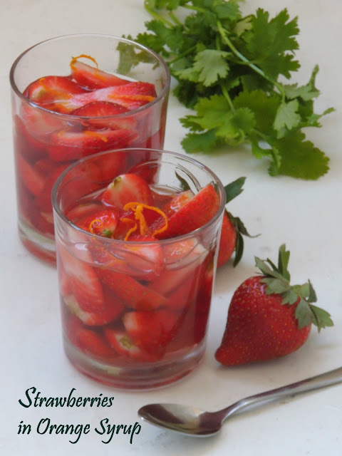 Nage de Fraise à l'orange, Strawberries in Orange Syrup