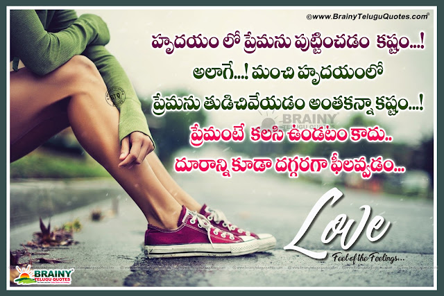 Telugu life Quotes, best life Quotes in Telugu, Love feeling Quotes in Telugu,