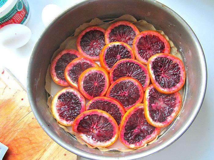 Blood Orange Cornmeal Ricotta Cheesecake Oh My