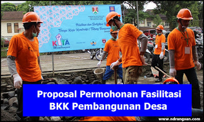 Contoh Proposal Permohonan Fasilitasi BKK Pembangunan Desa