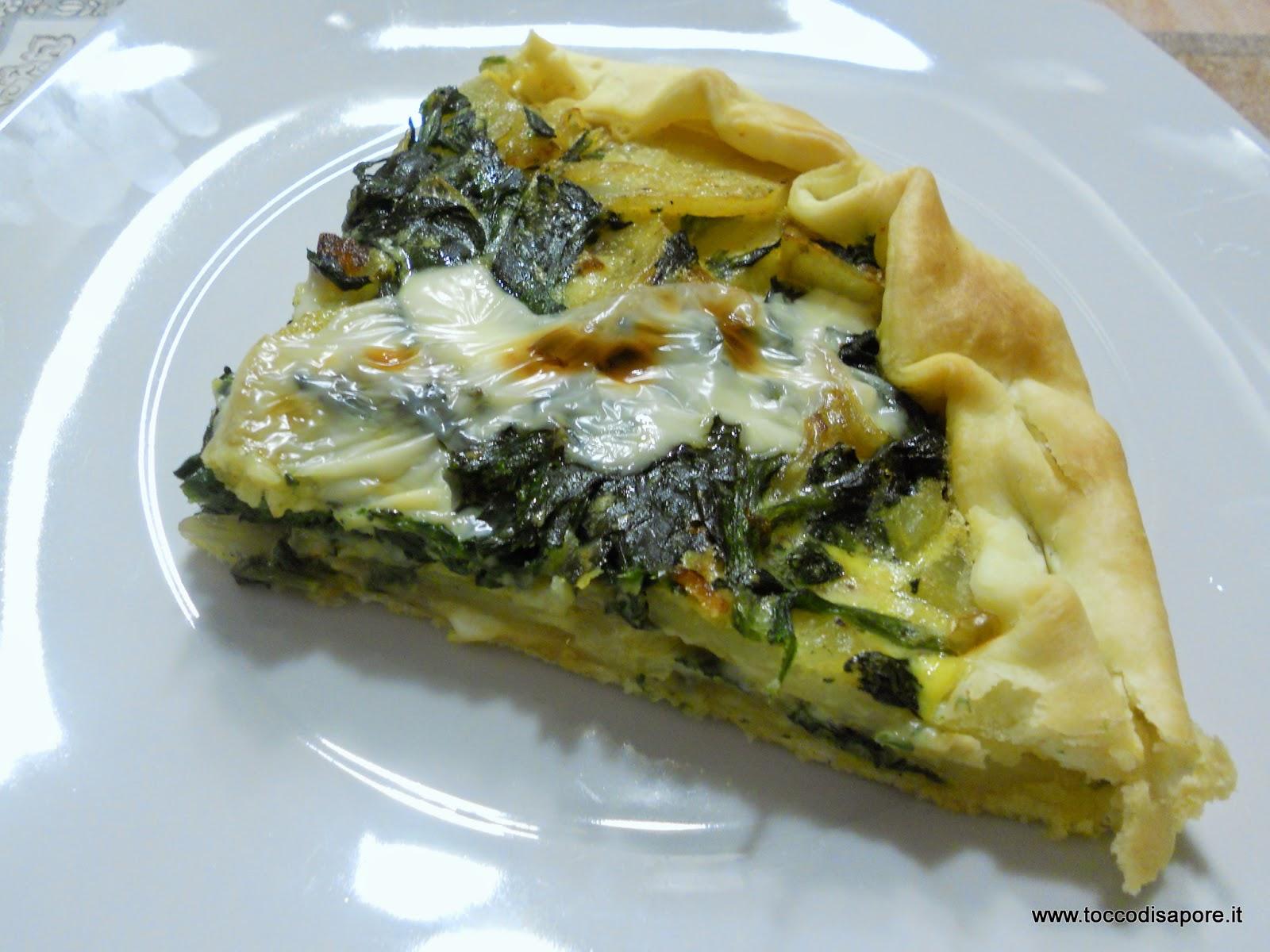 Torta Salata Di Pasta Brisè Con Spinaci E Patate
