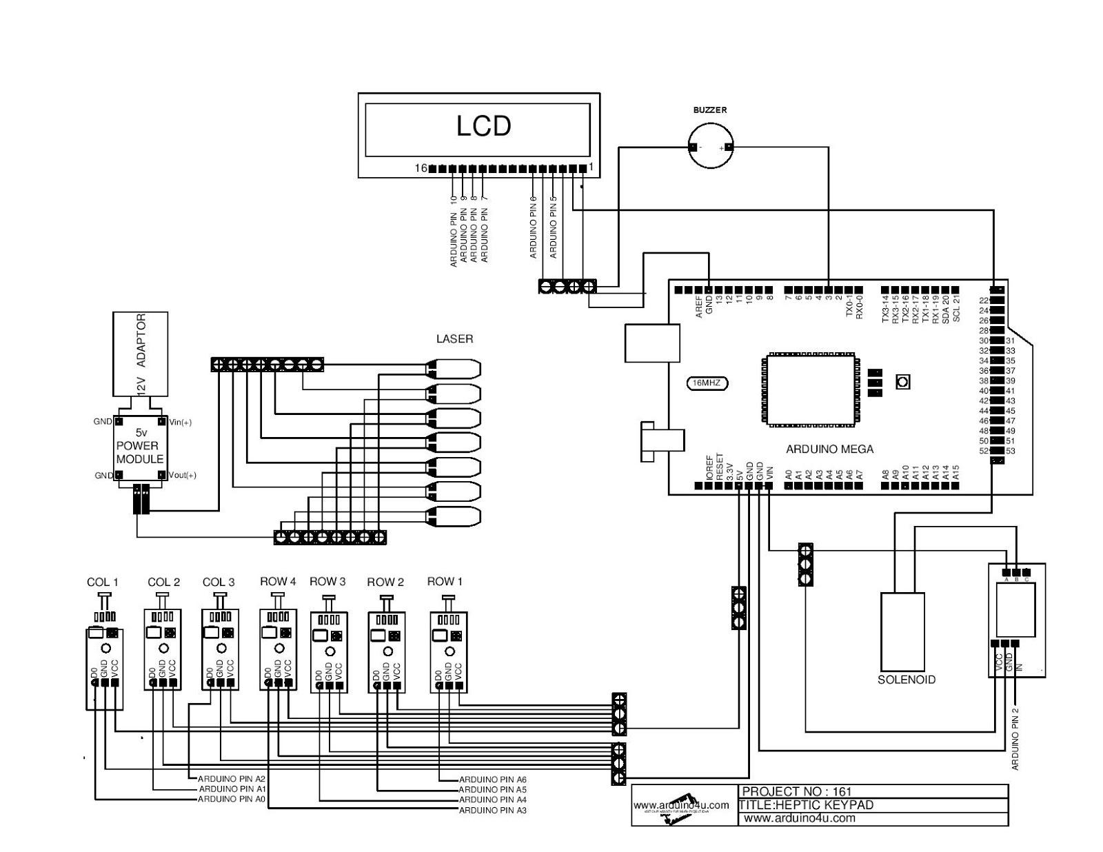 Projek Elektronik Arduino4u 161 Heptic Keypad