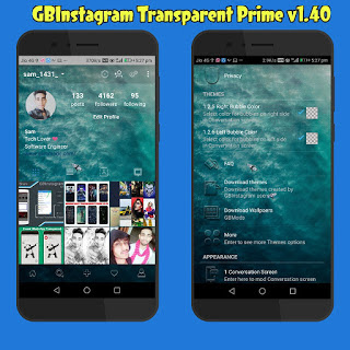 GBInstagram Transparent Prime v1 40 [ Latest Version ] - Instagram Mods