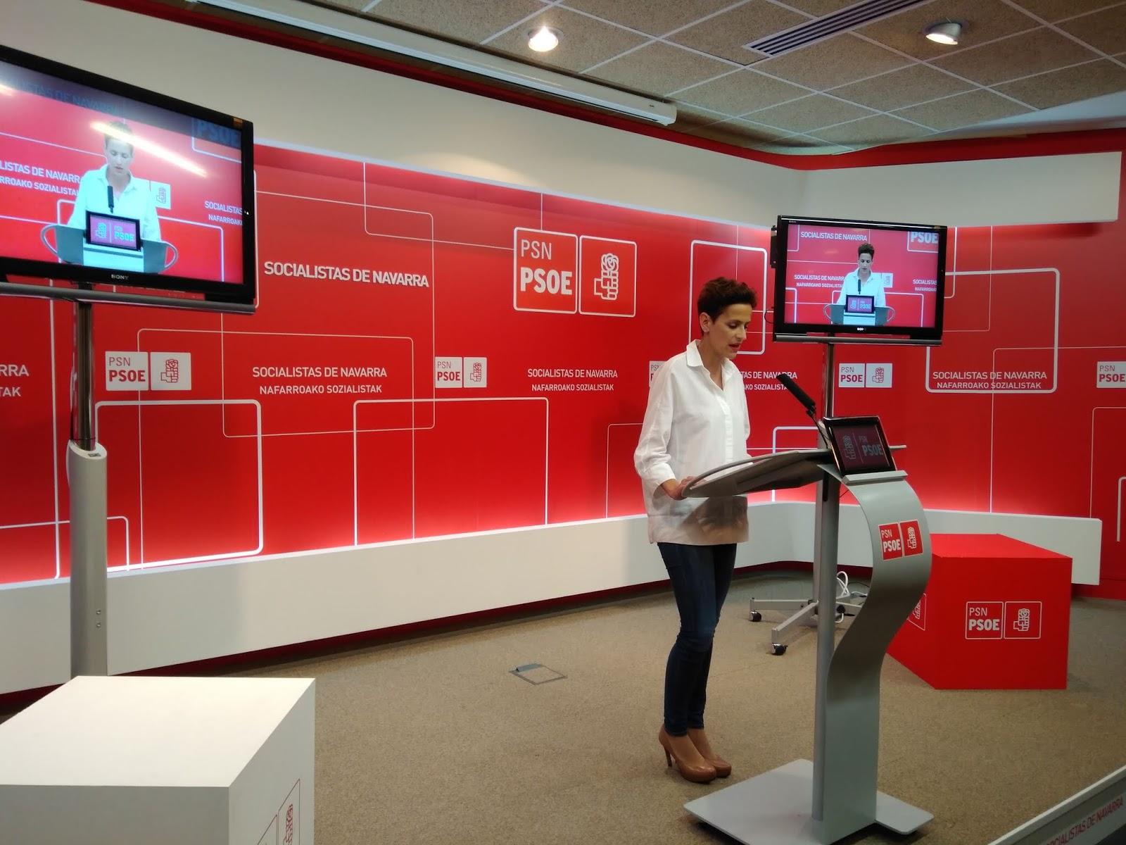 El PSN-PSOE tilda de ridícula y humillante la postura de Barkos ante el chantaje de EH Bildu en el caso del Gaztetxe
