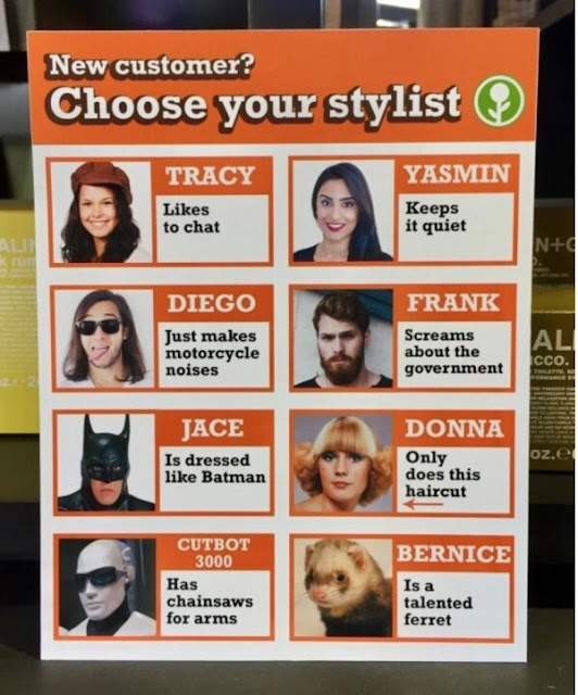 New customer? Choose your stylist