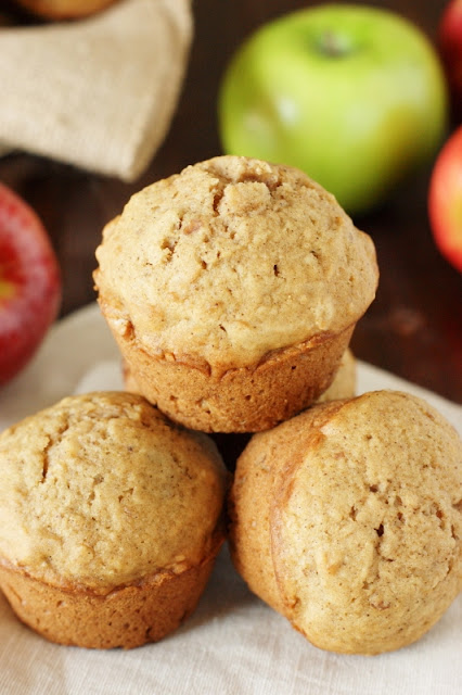 Applesauce Muffins Image ~ our family's favorite muffins!  www.thekitchenismyplayground.com