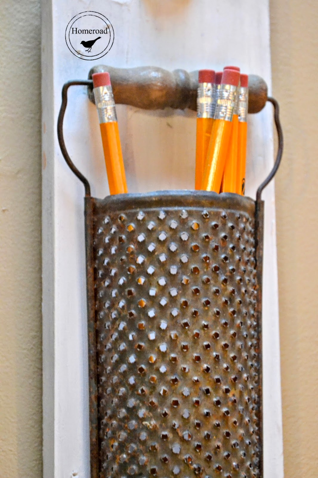 Vintage grater pencil cup www.homeroad.net