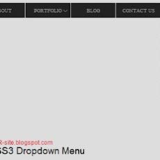 CSS3 Drop Down Menu