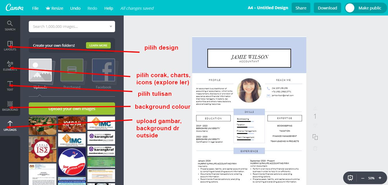 Cara buat resume paling simple dengan design yang gempak setaraf profesional!   beealive