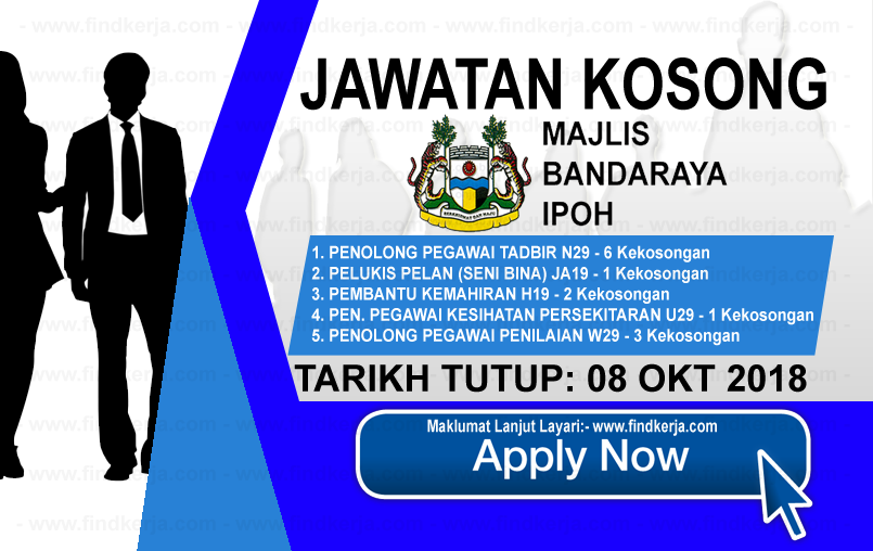 Jawatan Kerja Kosong MBI - Majlis Bandaraya Ipoh logo www.ohjob.info www.findkerja.com oktober 2018