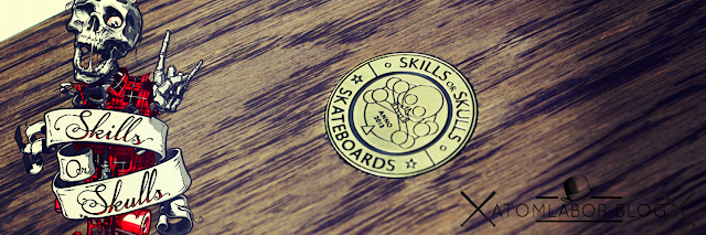Skills or Skulls Skateboards x Atomlabor Blog | Wir verlosen ein Cruiser Mini Skateboard Indian Black - Skateboard