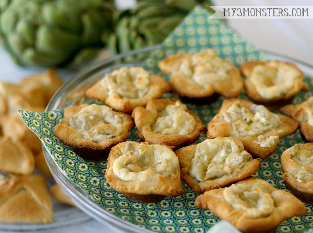 Parmesan and Artichoke Puffs recipe at my3monsters.com