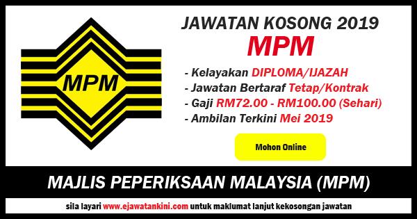 jawatan kosong majlis peperiksaan malaysia 2019