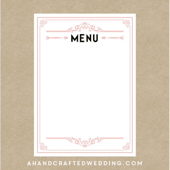 Simple Printable Restaurant Menu Designs - Excel Template