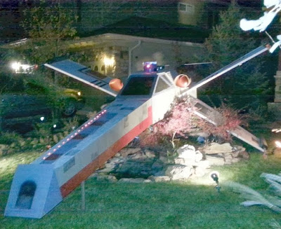 Star Wars X-Wing Starfighter for Halloween decorations