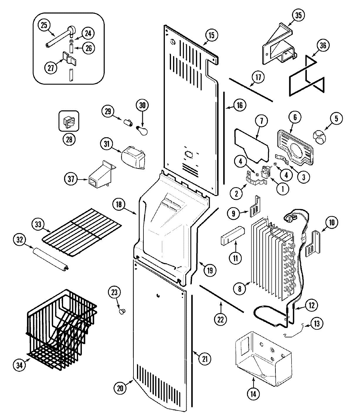 Appliance Parts Southeast Msd Grw Freezer Components
