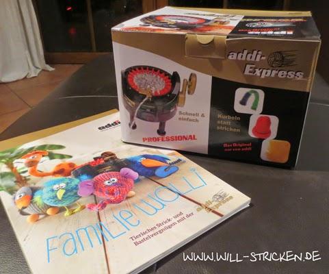 addi-Express Strickmaschine und Familie Wolli Anleitungsbuch
