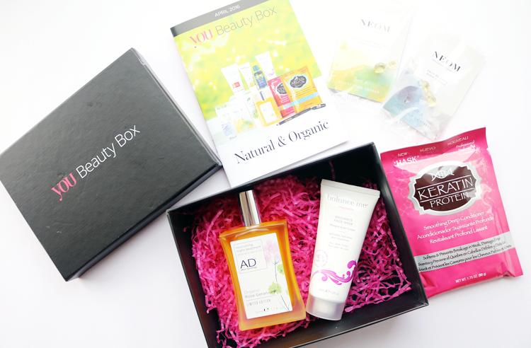 You Beauty Box - April 2016 review