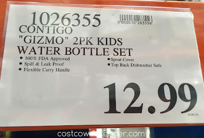 Deal for the Contigo Gizmo Kids Autospout Water Bottle Set at Costco
