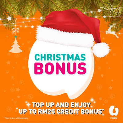 U Mobile Malaysia Prepaid Reload Bonus Top Up
