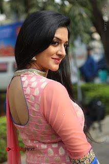 Actress Vimala Raman Stills in Beautiful Pink Salwar Kameez at (ONV) Om Namo Venkatesaya Press Meet  0199.JPG